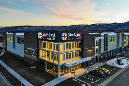 Exterior drone view at StorQuest Self Storage in Arvada, CO
