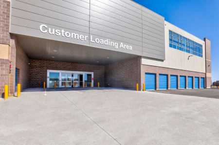 Customer loading area at StorQuest Self Storage in Arvada, CO