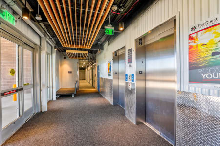 Elevators at StorQuest Self Storage in Arvada, CO