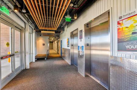 Elevators at StorQuest Self Storage in Arvada, CO