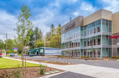 View of facility at StorQuest Self Storage in Portland, OR