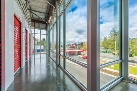 Red interior units at StorQuest Self Storage in Portland, OR