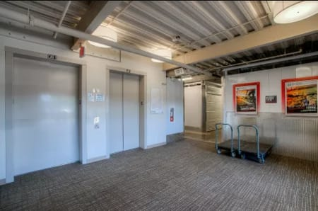 Elevator access at StorQuest Self Storage in Sacramento, California