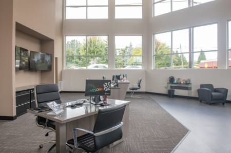 Leasing office at StorQuest Self Storage in Tigard, OR