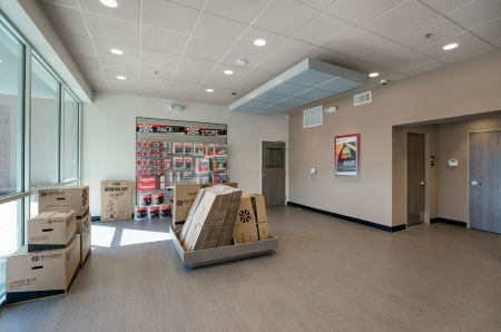 Leasing office and merchandise at StorQuest Self Storage in Carefree, AZ
