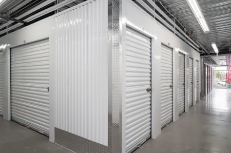 Indoor storage units at StorQuest Self Storage in Redwood City, California