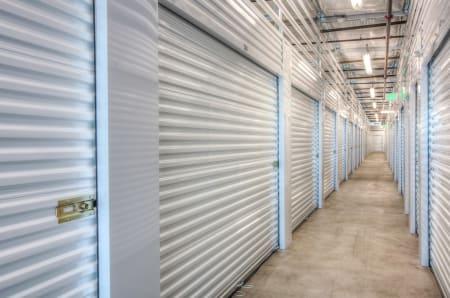 Well lighted hallway at StorQuest Self Storage in Santa Maria, California