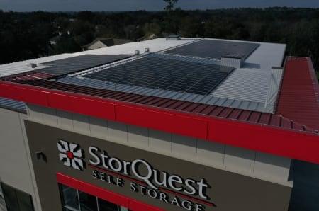 Solar power at StorQuest Self Storage in Gainesville, FL