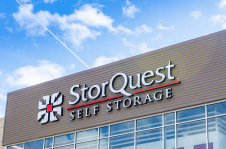Storquest sign at StorQuest Self Storage in Clearwater, Florida