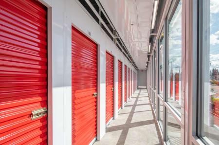 Indoor storage units at StorQuest Self Storage in Clearwater, Florida