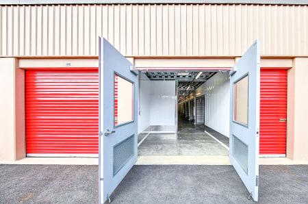 Wide doors at StorQuest Self Storage in Clearwater, Florida