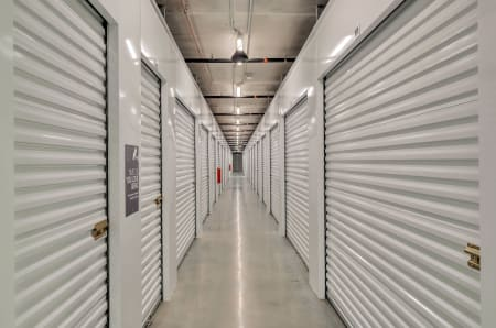 Slide up doors at StorQuest Self Storage in Hawthorne, California