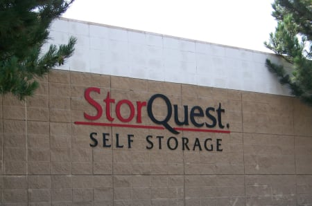 Branding and signage outside of StorQuest Self Storage in Napa, California