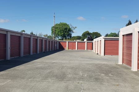 Outdoor storage units at StorQuest Self Storage in Napa, California