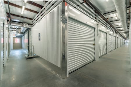 Interior storage units at StorQuest Express - Self Service Storage in Palm Coast, Florida