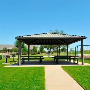 Outdoor pavilion at The Springs of Indian Creek in Carrollton, Texas