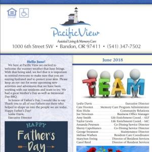 February Pacific View Senior Living Community Newsletter