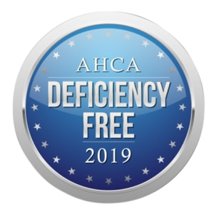 AHCA Deficiency Free logo