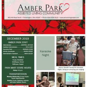 December Amber Park newsletter