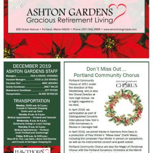 December Ashton Gardens Gracious Retirement Living newsletter