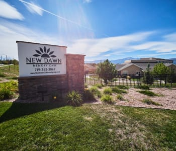 Exterior view of New Dawn Memory Care in Colorado Springs, CO