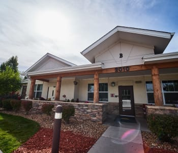 Exterior view of New Dawn Memory Care in Aurora, CO