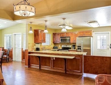 Luxury kitchen at Pacifica Senior Living Tucson in Tucson, AZ