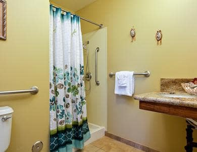 Spacious bathroom at Pacifica Senior Living Tucson in Tucson, AZ