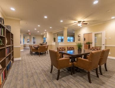 Dining hall at Pacifica Senior Living Vancouver in Vancouver, WA