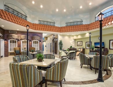 Dining room at Pacifica Senior Living Spring Valley