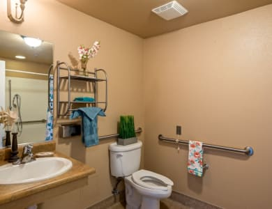 Bathroom at Pacifica Senior Living Modesto in Modesto, California