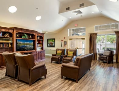 Common room at Pacifica Senior Living Modesto in Modesto, California