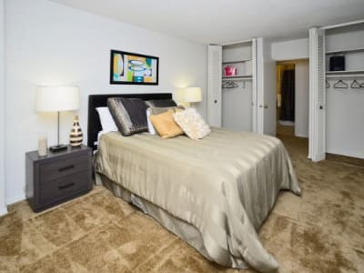 Model bedroom at Towers of Windsor Park Apartment Homes in Cherry Hill, NJ
