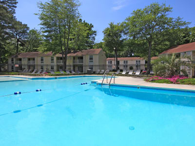 Swimming pool at Monarch Crossing Apartment Homes in Newport News, Virginia