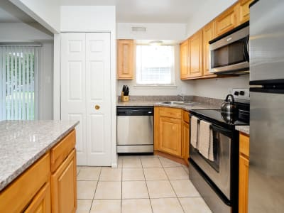 Upgraded kitchens at Moorestowne Woods Apartment Homes in Moorestown, NJ