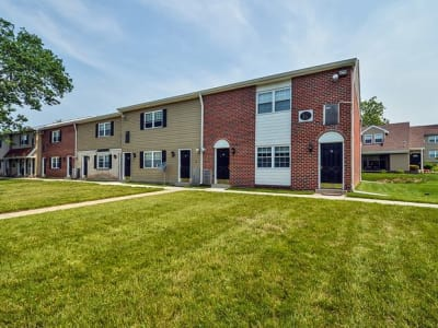 A breathtaking view of the exterior layout of Forge Gate Apartment Homes in Lansdale, PA