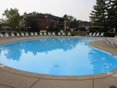 Luxurious swimming pool awaits you at Hidden Lakes Apartment Homes in Miamisburg, Ohio