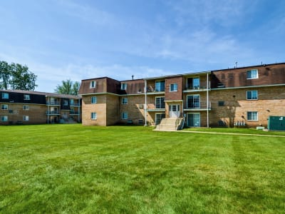 Well maintained lawn at Main Street Apartment Homes in Lansdale, PA