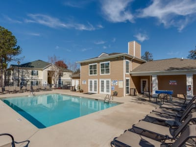 Swimming pool at The Waterway Apartment Homes in Lexington, SC