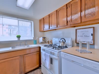 Well equipped kitchen at Princeton Estates Apartment Homes in Temple Hills, Maryland