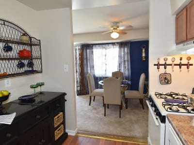 Clubhouse interior view at Willow Lake Apartment Homes