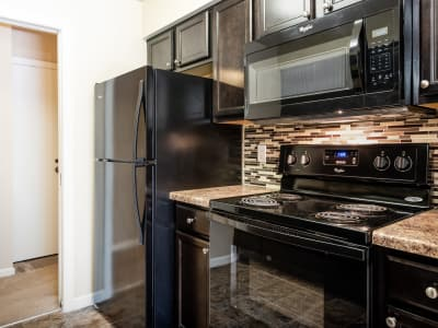 Lovely kitchen at Regency Lakeside Apartment Homes in Omaha, NE