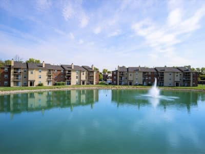Picturesque view of the property at Hidden Lakes Apartment Homes in Miamisburg, OH