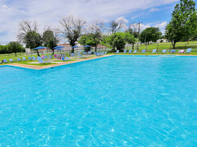 Luxurious swimming pool awaits you at Charlesmont Apartment Homes in Dundalk, Maryland