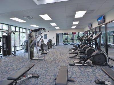 Spacious Gym at Brookdale at Mark Center Apartment Homes, in Alexandria, VA