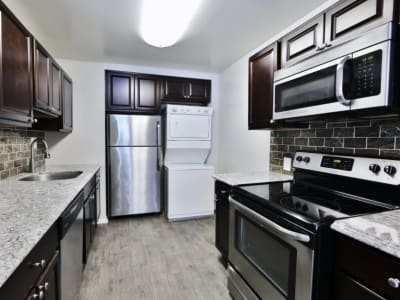 Kitchen at Skylark Pointe Apartment Homes in Parkville, Maryland