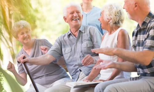 Seniors gathered at Battle Creek Memory Care in Salem, Oregon