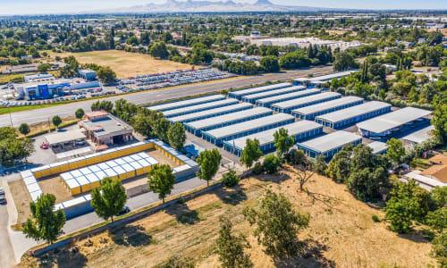 Aerial View of Storage Star Yuba City in Yuba City, California.