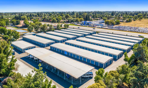 Aerial View of RV storage at Storage Star Yuba City in Yuba City, California