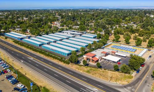 Full Aerial View of Storage Star Yuba City in Yuba City, California